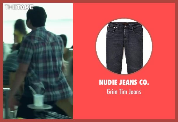 Nudie Jeans Co. black jeans from Project Almanac seen with Sam Lerner (Quinn Goldberg)