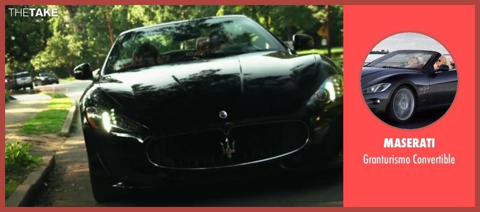 Maserati convertible from Project Almanac seen with Sam Lerner (Quinn Goldberg)