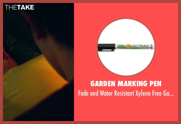 Garden Marking Pen pen from Project Almanac seen with Sam Lerner (Quinn Goldberg)