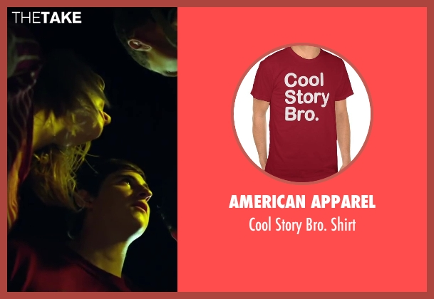 American Apparel red shirt from Project Almanac seen with Sam Lerner (Quinn Goldberg)