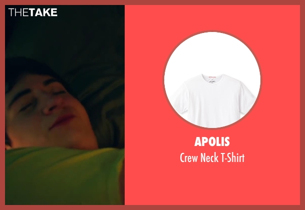 Apolis white t-shirt from Project Almanac seen with Sam Lerner (Quinn Goldberg)