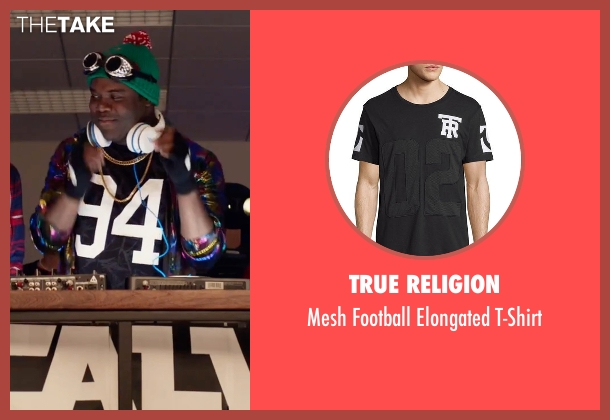 True Religion black t-shirt from Office Christmas Party seen with Sam Richardson (Joel)