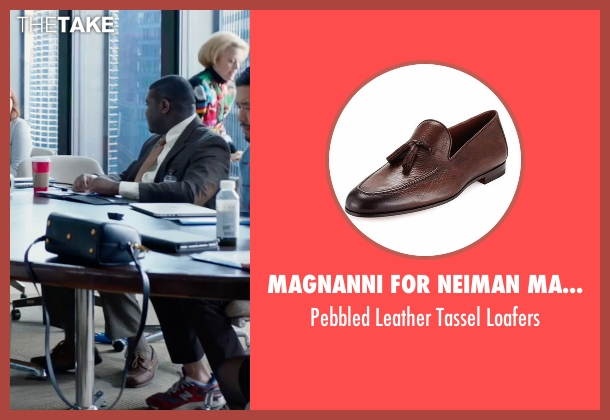 Magnanni for Neiman Marcus brown loafers from Office Christmas Party seen with Sam Richardson (Joel)
