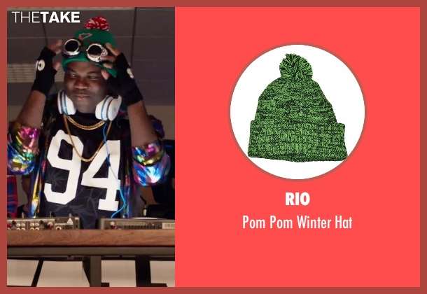 Rio green hat from Office Christmas Party seen with Sam Richardson (Joel)