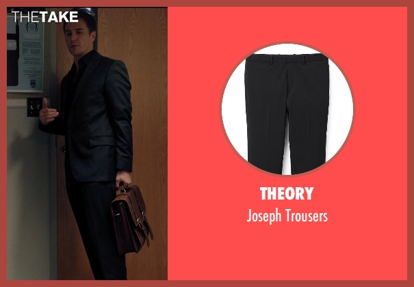 Theory black trousers from Laggies seen with Sam Rockwell (Craig)