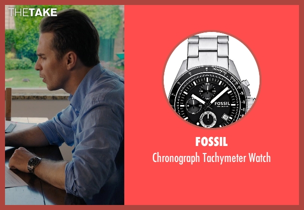 Fossil black watch from Laggies seen with Sam Rockwell (Craig)