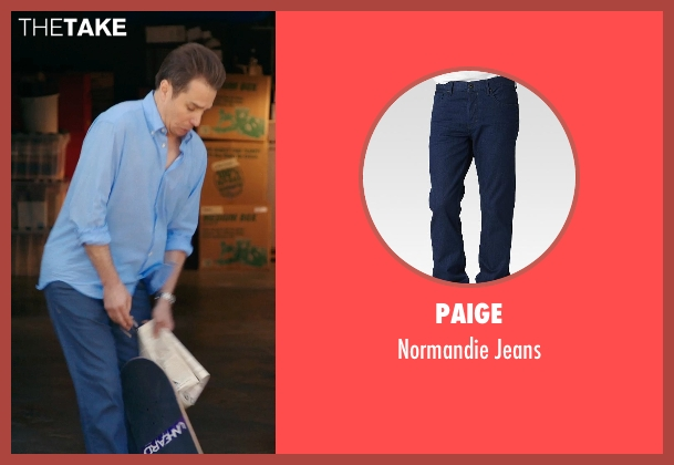 Paige blue jeans from Laggies seen with Sam Rockwell (Craig)