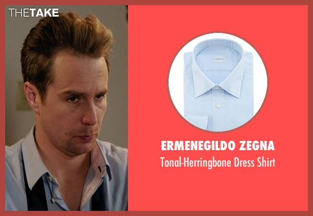 Ermenegildo Zegna blue shirt from Laggies seen with Sam Rockwell (Craig)