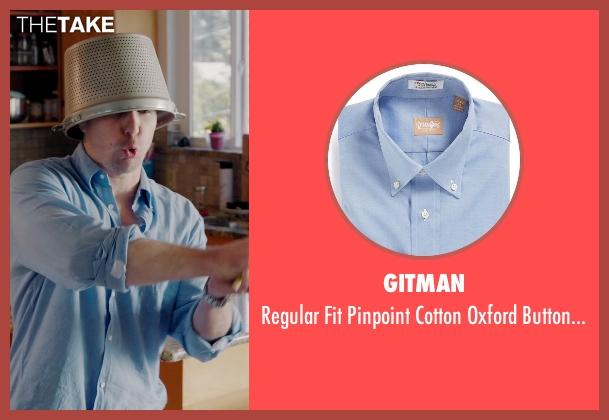 Gitman blue shirt from Laggies seen with Sam Rockwell (Craig)
