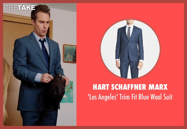 Hart Schaffner Marx blue suit from Laggies seen with Sam Rockwell (Craig)