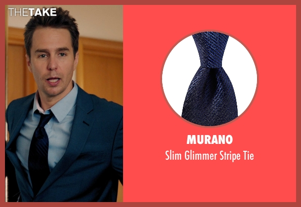 Murano blue tie from Laggies seen with Sam Rockwell (Craig)
