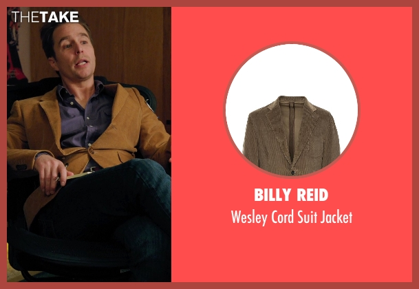 Billy Reid brown jacket from Laggies seen with Sam Rockwell (Craig)