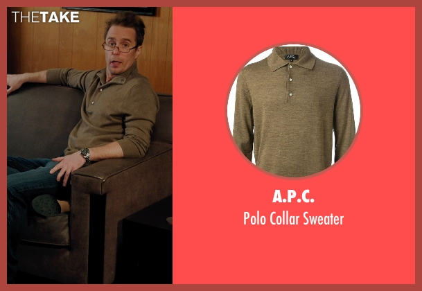 A.P.C. brown sweater from Laggies seen with Sam Rockwell (Craig)