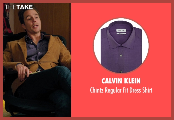 Calvin Klein purple shirt from Laggies seen with Sam Rockwell (Craig)
