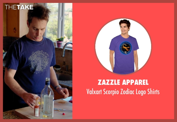 Zazzle Apparel purple shirts from Laggies seen with Sam Rockwell (Craig)