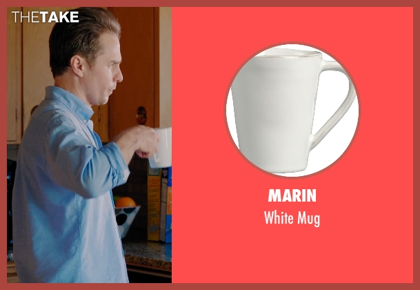 Marin white mug from Laggies seen with Sam Rockwell (Craig)