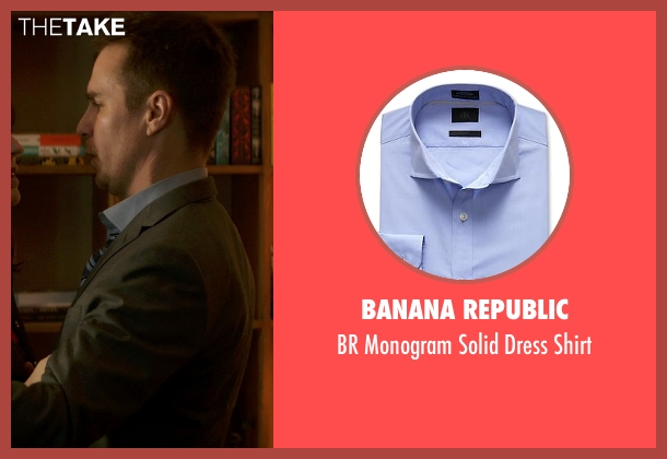 Banana Republic blue shirt from Poltergeist seen with Sam Rockwell (Eric Bowen)