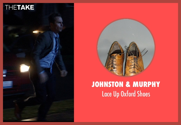 Johnston & Murphy brown shoes from Poltergeist seen with Sam Rockwell (Eric Bowen)