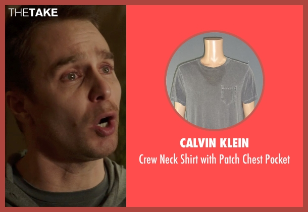 Calvin Klein gray pocket from Poltergeist seen with Sam Rockwell (Eric Bowen)