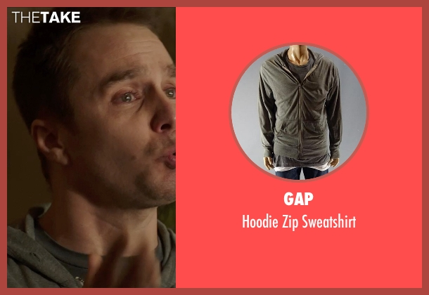 Gap gray sweatshirt from Poltergeist seen with Sam Rockwell (Eric Bowen)