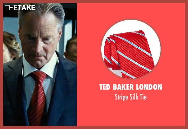 Ted Baker London red tie from Safe House seen with Sam Shepard (Harlan Whitford)
