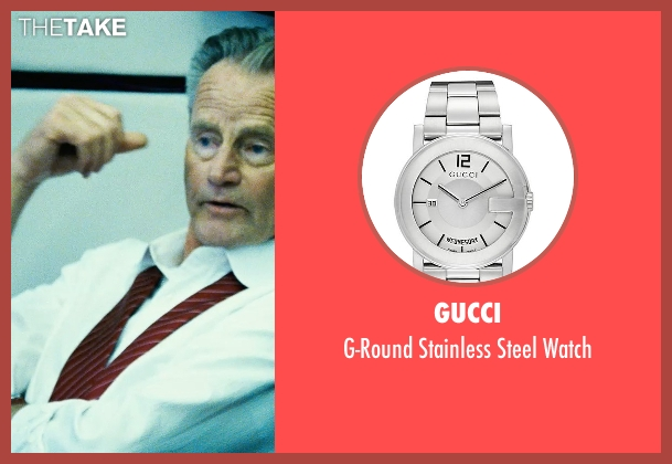 Gucci silver watch from Safe House seen with Sam Shepard (Harlan Whitford)
