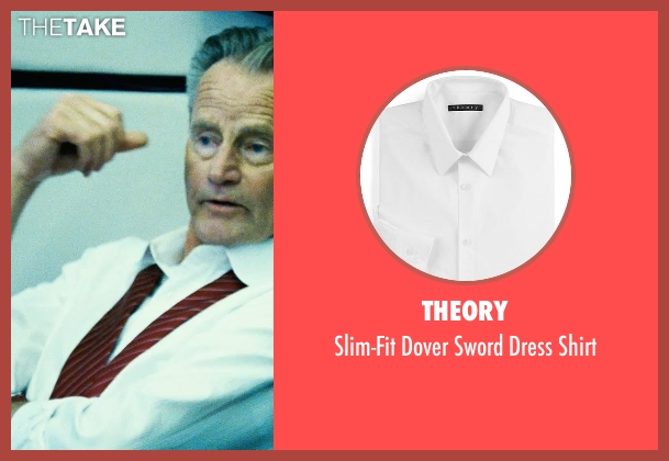 Theory white shirt from Safe House seen with Sam Shepard (Harlan Whitford)