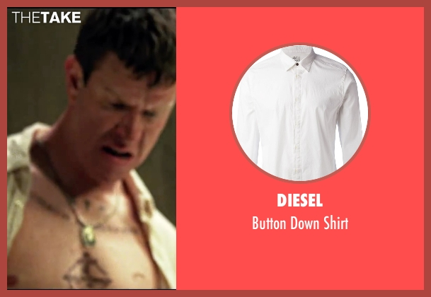 Diesel white shirt from Taken 3 seen with Sam Spruell (Oleg Malankov)