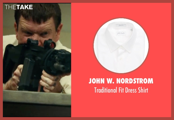 John W. Nordstrom white shirt from Taken 3 seen with Sam Spruell (Oleg Malankov)