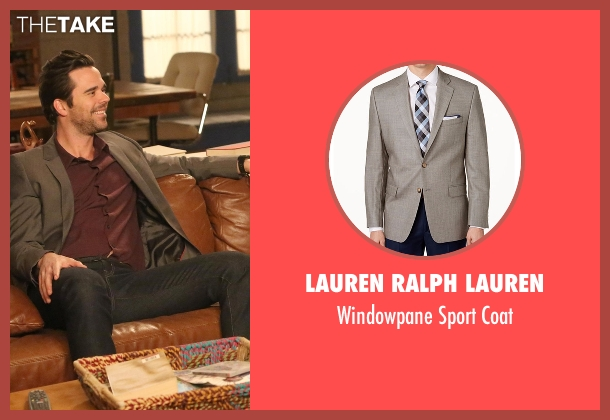 Lauren Ralph Lauren gray coat from New Girl seen with Sam Sweeney (David Walton)