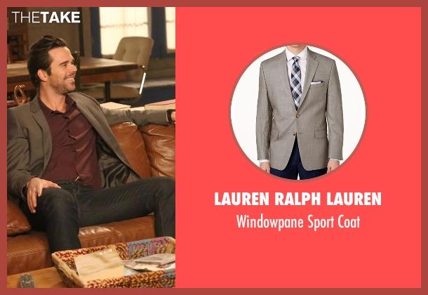Lauren Ralph Lauren gray coat from New Girl seen with Sam Sweeney (David Walton)