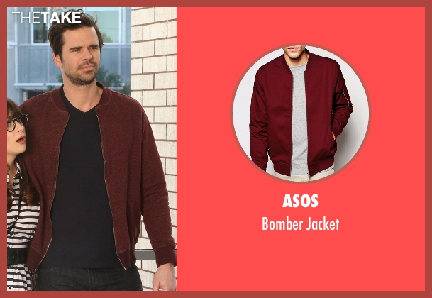 Asos red jacket from New Girl seen with Sam Sweeney (David Walton)