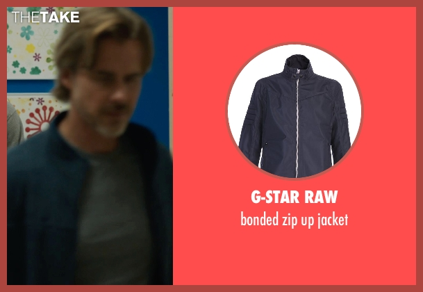 G-STAR RAW blue jacket from The Fault In Our Stars seen with Sam Trammell (Mr. Lancaster)