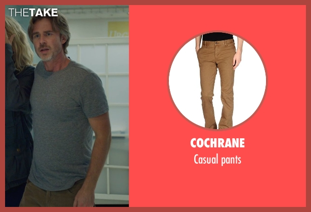 COCHRANE brown pants from The Fault In Our Stars seen with Sam Trammell (Mr. Lancaster)
