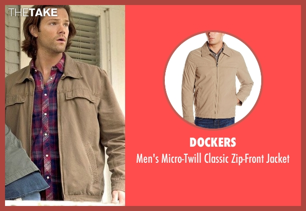 Dockers beige jacket from Supernatural seen with Sam Winchester (Jared Padalecki)