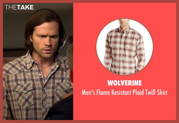 Wolverine beige shirt from Supernatural seen with Sam Winchester (Jared Padalecki)