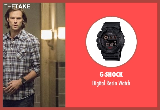 G-Shock black watch from Supernatural seen with Sam Winchester (Jared Padalecki)