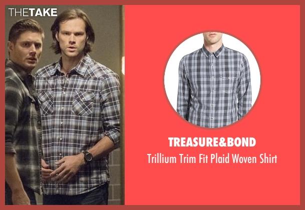Treasure&Bond blue shirt from Supernatural seen with Sam Winchester (Jared Padalecki)