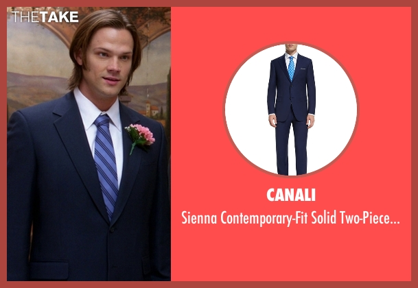 Canali blue suit from Supernatural seen with Sam Winchester (Jared Padalecki)