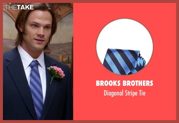 Brooks Brothers blue tie from Supernatural seen with Sam Winchester (Jared Padalecki)