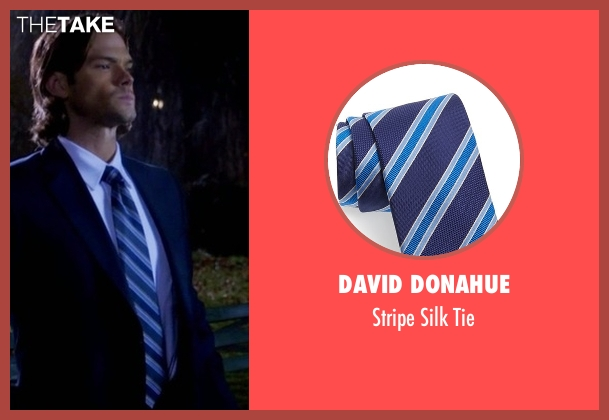 David Donahue  blue tie from Supernatural seen with Sam Winchester (Jared Padalecki)