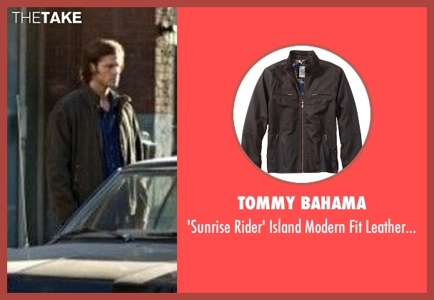 Tommy Bahama brown jacket from Supernatural seen with Sam Winchester (Jared Padalecki)