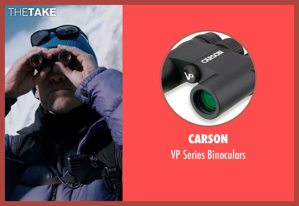 Carson binoculars from Everest seen with Sam Worthington (Guy Cotter)