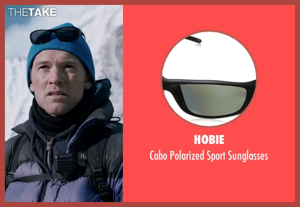 Hobie black sunglasses from Everest seen with Sam Worthington (Guy Cotter)