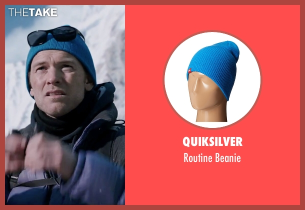 Quiksilver blue beanie from Everest seen with Sam Worthington (Guy Cotter)