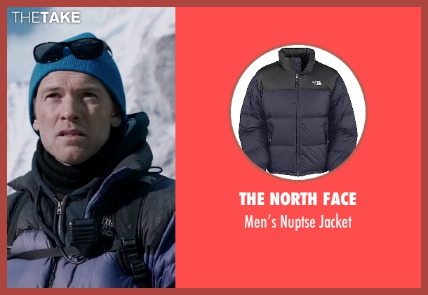 The North Face blue jacket from Everest seen with Sam Worthington (Guy Cotter)