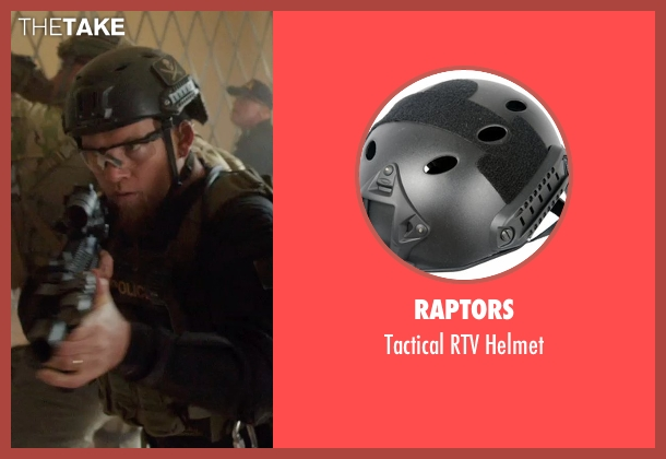 Raptors black helmet from Sabotage seen with Sam Worthington (James 'Monster' Murray)
