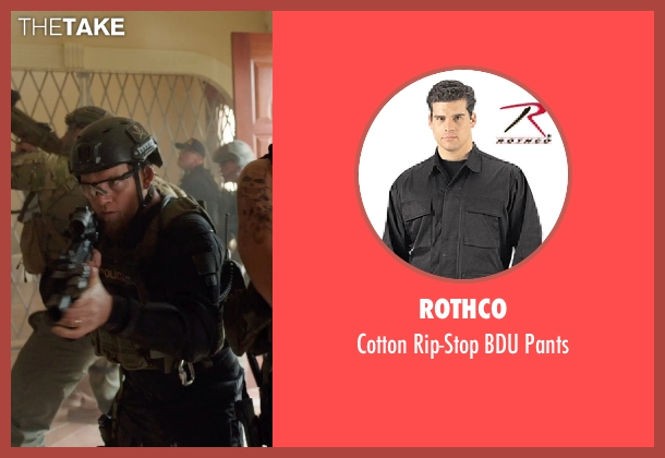 Rothco black pants from Sabotage seen with Sam Worthington (James 'Monster' Murray)