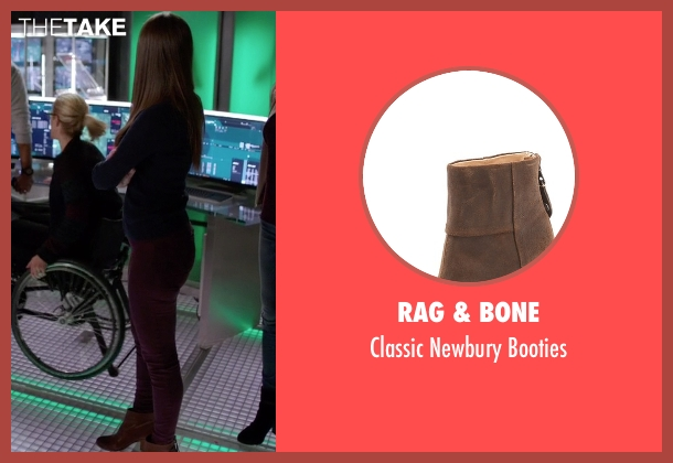 Rag & Bone brown booties from Arrow seen with Samantha Clayton (Anna Hopkins)