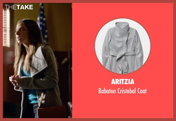 Aritzia gray coat from Arrow seen with Samantha Clayton (Anna Hopkins)